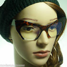 HIGH Fashion Bottom Pointed Cut Cat Razor Women Frame Clear Lens Eye Glasses NEW