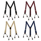 New Style Button Holes Link Men's Suspenders Unisex Braces Adjustable Elastic