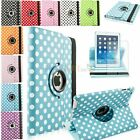 Polka Dot 360 Leather Rotating Swivel Magnetic Smart Case for iPad Air / 5 +Film