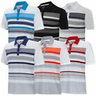 Adidas Golf 2015 Climacool Sport Performance Ventilated Stripe Mens Polo Shirt