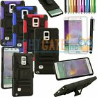 Combo Kickstand case with Holster and Belt clip For Samsung Galaxy Note 4 Gifts