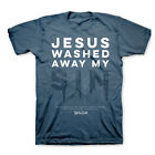 Brand New Kerusso Religious Christian T-Shirt JESUS WASHED AWAY MY SIN Psalm 51