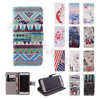 1× For LG Sony Cover Multiple Elegant Leather Case Wallet Card Stand Folio Style