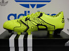 NEW ADIDAS X 15.1 FG/AG Leather Men's Soccer Cleats - Yellow/Black;  B26979