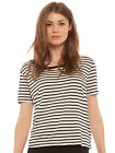 Mink Pink Drape Tee in Stripe NEW