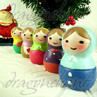 Novelty Russian Doll Resin Figurine Lovely Hand Paint Zakka Christmas Xmas Gift