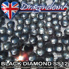 1 GROSS BLACK DIAMOND SS12 IRON ON HOTFIX RHINESTONES QUALITY GEMS CRAFT BEADS