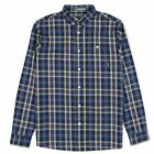 Peaceful Hooligan Mens Designer Cooper Long Sleeve Shirt in Blue Yellow Red