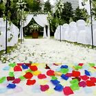 New 100pcs Silk Rose Flower Petals Leaves Used For Wedding Party Decoration