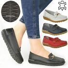 LADIES WOMENS LEATHER WEDGE SHOES LOAFERS SLIP ON COMFORT WALKING GRIP SOLE SIZE