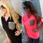 New Lady Women's Summer Fashion Style V-neck Casual T-Shirt Blouse Tops Tee
