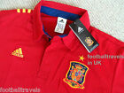 S or M ADIDAS OFFICIAL SPAIN POLO SHIRT jersey Espana football soccer calcio NEW
