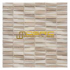 """Marble Mosaic Tile, """"Bamboo Collection"""" MM 3102 - White Oak, 5/8""""X2"""", Polished"""