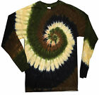 Tie Dye T Shirts Camo Swirl Spiral Long Sleeve Colors Size Youth XS to Adult 3XL