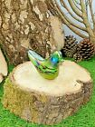 Neo Art Glass British handmade glassware, bird sculpture paperweight By K.Heaton