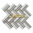 """Marble Mosaic Tile, """"Quilt Collection"""" MM 8102 - Martis, Strips, Polished"""