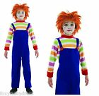 Kids Evil Dummy Chucky Horror Child's Play Halloween Fancy Dress L & XL