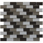 "Glass Mosaic Tile, ""Plateau Collection"" GM 1102 - Brick, 1""X2"" Brick"