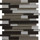 "Glass Mosaic Tile, ""Plateau Collection"" GM 1104 - Mixed Strip"