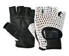 WHEELCHAIR GLOVES LEATHER WEIGHT LIFTING FINGERLESS HALF FINGER FITNESS SPORTS