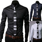 STYLISH Mens Luxury Formal Casual Slim Fit Button Long Sleeve Dress Shirts Tops