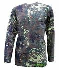 GERMANY GERMAN ARMY STYLE LONG SLEEVED T SHIRT FLECKTARN CAMO NEW