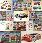 CARS MOTORBIKES BOATS AEROPLANES TRAINS KIDS BOYS WALL STICKERS DECALS BABY