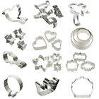 Stainless Steel Cookie Cutter Mold Fondant Biscuit Pastry Baking Set Cake Decor
