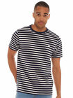 Fred Perry Breton Stripe T-Shirt in Navy NEW