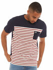 Fred Perry Pique Stripe T-Shirt in Navy NEW