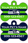 Seattle Seahawks Custom Pet Id Dog Tag Personalized w/ Your Pet's Name $9.87 USD on eBay