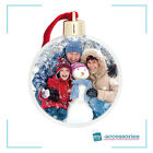 Christmas Circle Photo Tree Ornament. Make your own, holds 2 photos