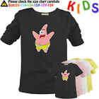 Cute Cartoon SpongeBob Patrick Star Pattern Kids Gift Long Short Sleeve T-Shirt