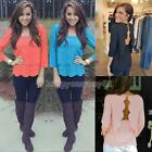 HOT Fashion Women Chiffon Long Sleeve Loose Tops Blouse Summer Casual Shirt