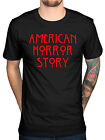 Official American Horror Story Red Logo T-shirt Evan Peters Murder House Coven