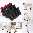 Cute 4Pcs Warm Winter Pet Dog Boots Waterproof Anti-Slip Puppy Pet Booties Shoes