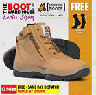 Mongrel 261050 Women's Work Boots. Steel Toe Safety. Zip-Sider, PRESS STUD CLIP