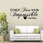 It's Kind of Fun to Do the Impossible Disney Quote Wall Stickers Nursery Decals