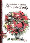 traditional to you NIECE AND YOUR FAMILY christmas card - multilisting