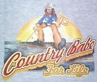 NEW! Womens COUNTRY BABE FOR LIFE Cowgirl Unisex Cotton T-Shirt - SIZE S - 3X