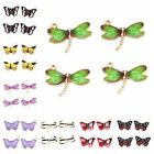 20pcs Gold Plated Enameled Charm Butterfly Dragonfly Alloy Pendant Craft New L