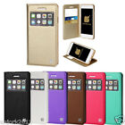 Flip Folio Pouch Case w/Viewing Window Cover for iPhone 6 / 6s / Plus