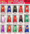 Capes + masks - 20set Party Pack superhero capes and masks - Superman Supergirl
