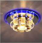 NEW 18cm 9W Crystal LED Ceiling lights Colorful Porch lights Chandeliers 8643H