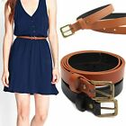 Fashion Ladies Women's PU Leather Belt Casual Pin Buckle Waist Strap Waistband