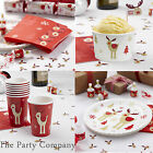 Christmas Xmas Boxing Day Rudolph Party Tableware, Plates, Cups, Napkins !