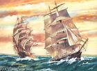 Reeves SAILING SHIPS  Large 10 COLOURS Painting by Numbers Gift Set