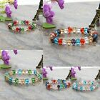 Women's 8mm Crystal Faceted Loose Beads Bracelet Stretch Bangle Fashion Jewelry
