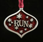 Runner Christmas Ornament in Fine Pewter made in the USA