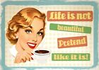 RETRO VINTAGE QUOTE POSTER SIGNS A3 A4 Funny Prints Pub Restaurant Home Wall Art <br/> B2 G1 FREE * INSPIRING Home Decor CHRISTMAS GIFT IDEAS